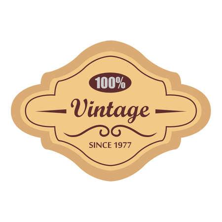 etiqueta Vintage  Ilustración de vector