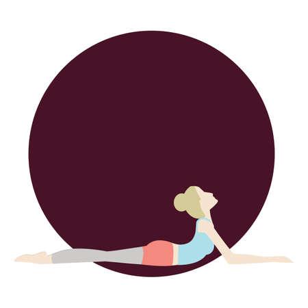 ragazza praticare lo yoga in posa sfinge