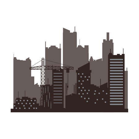 outs: silhouette of cityscape Illustration