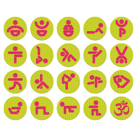 syllable: set of yoga icons