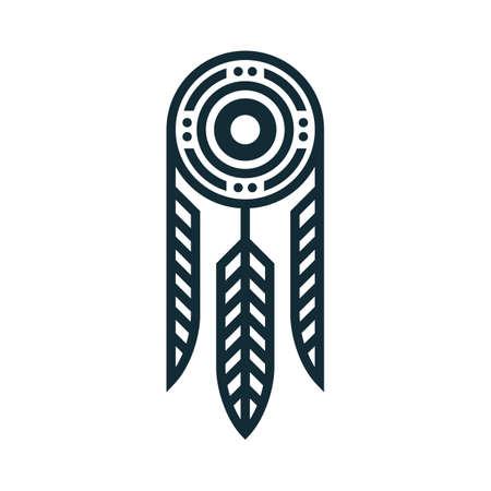 tatuaggio tribale piuma Vettoriali