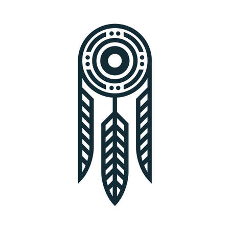 tatuaje tribal de la pluma Ilustración de vector