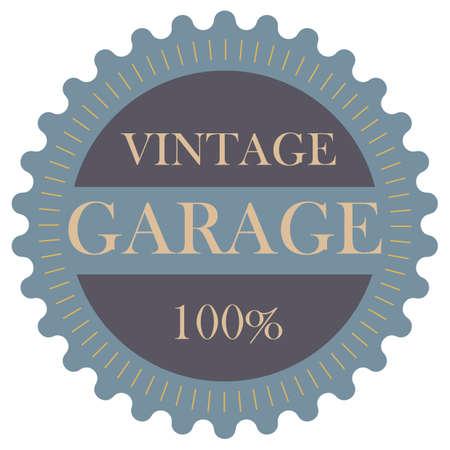 garage: vintage garage label