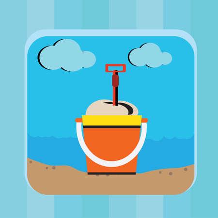 bucket and spade: bucket and spade
