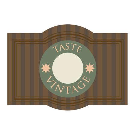 taste: taste vintage label Illustration