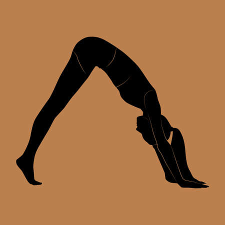 downward: downward facing dog pose