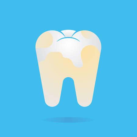 plaque: diente con la placa