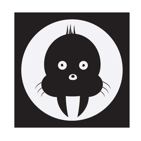 walrus: walrus silhouette Illustration