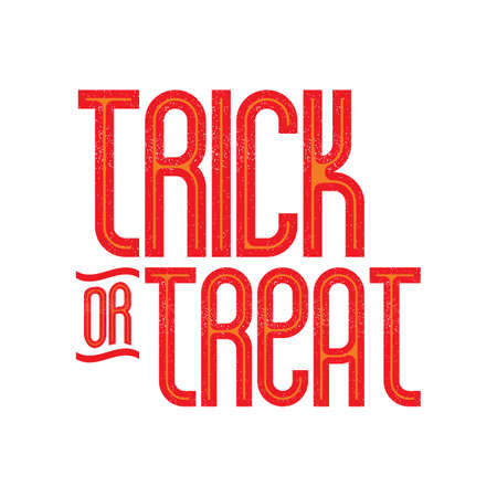 treat: trick or treat card Illustration