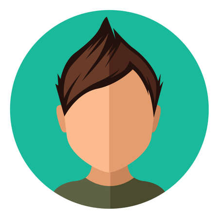 trendy: boy with trendy short hairstyle