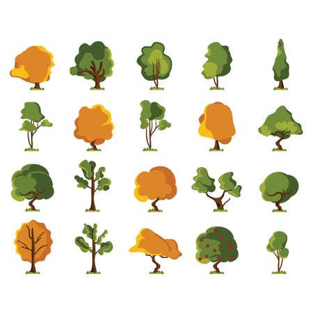 pine apple: set of tree icons Illustration
