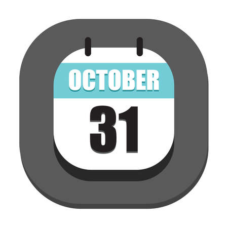 thirty: calendar marked on october thirty first
