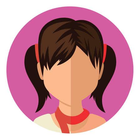tied: Mädchen mit dem Haar gebunden