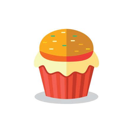 sprinkles: cupcake with sprinkles Illustration