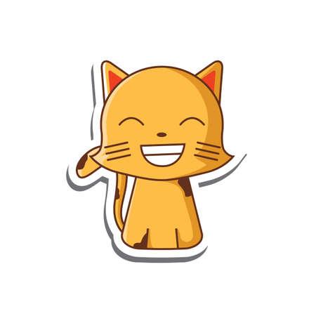 grinning cat cartoon Illustration