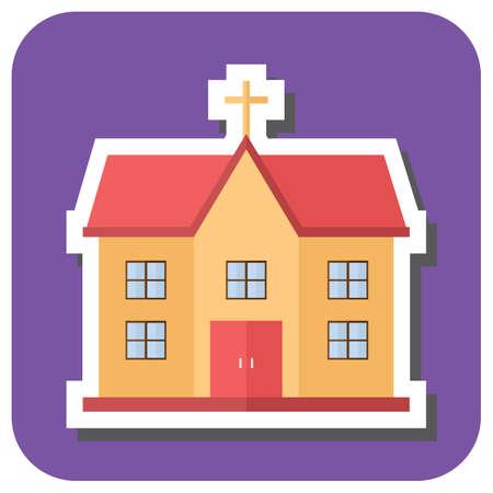 religious celebration: church Illustration