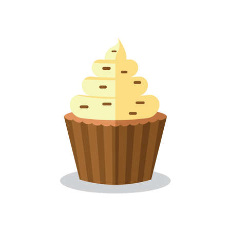 teatime: cupcake with icing Illustration