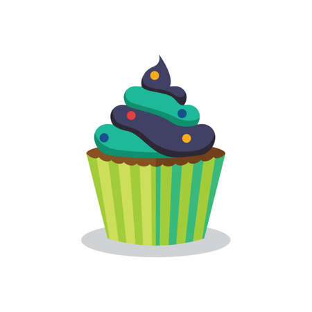icing: cupcake with icing Illustration