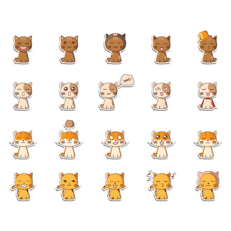 Set Katze Icons Standard-Bild - 53050105