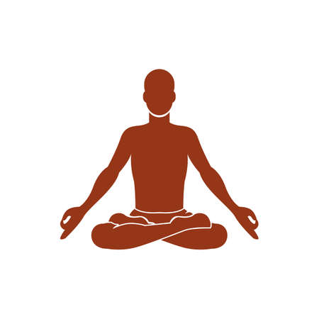 auspicious: man practicing yoga in auspicious pose