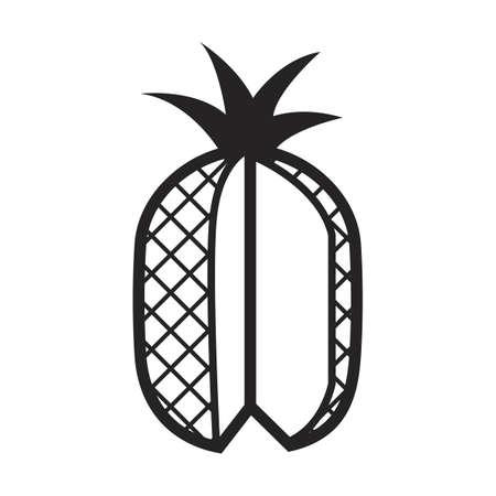 the cut: cut pineapple