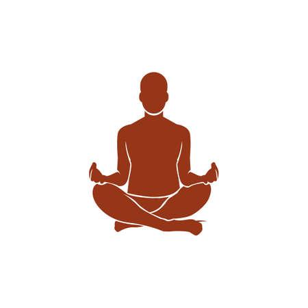 auspicious: man practicing yoga in auspicious pose