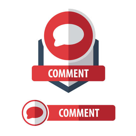 button: comment button