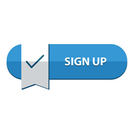 sign up: sign up button Illustration