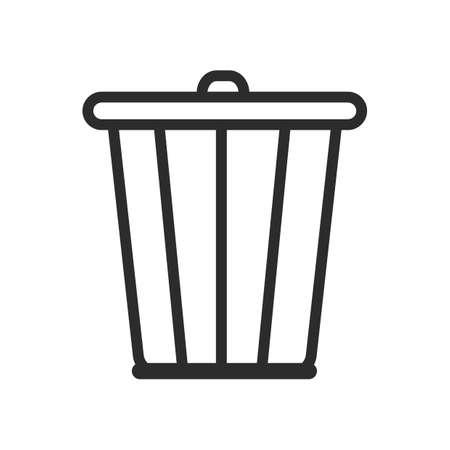 rubbish bin: rubbish bin Illustration