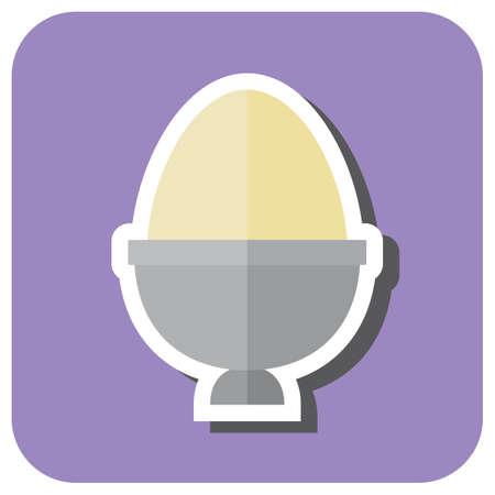 holder: egg in egg holder Illustration