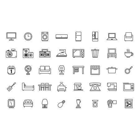 appliance: set of home appliance icons Illustration