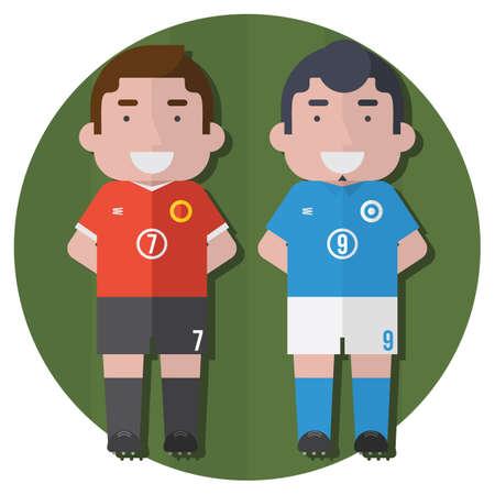 sports jersey: soccer players Illustration