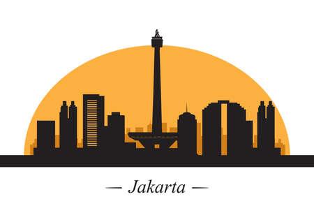 jakarta: silhouette of jakarta