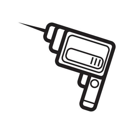 dril machine Stock Illustratie