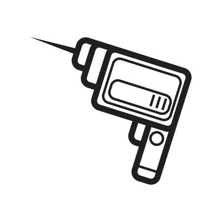drilling machine Illustration