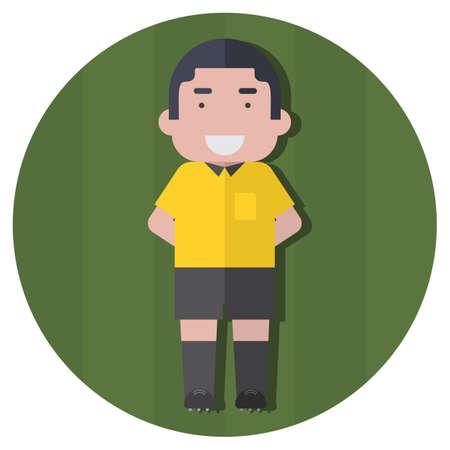 soccer: soccer linesman Illustration