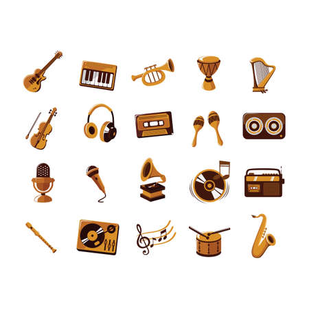 melodious: set of music icons