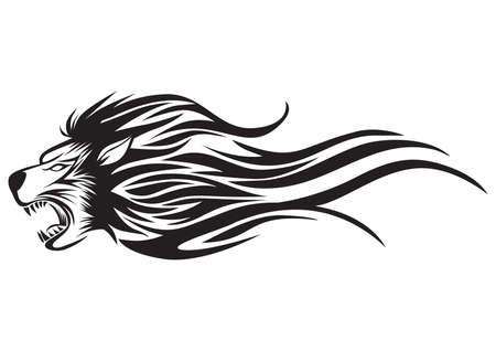 lion tattoo Vektorové ilustrace