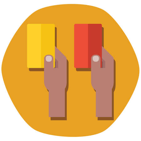 foul: yellow and red penalty cards