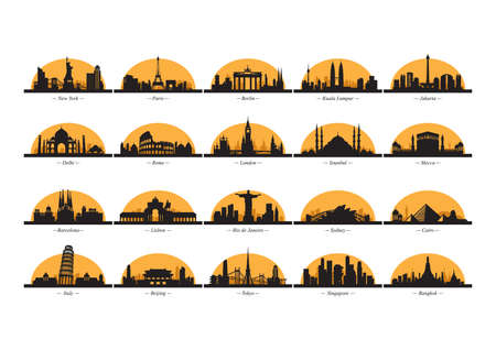 forbidden city: silhouettes of countries