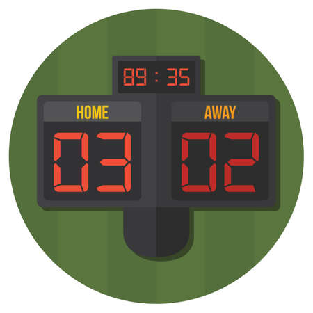 soccer scoreboard Illustration