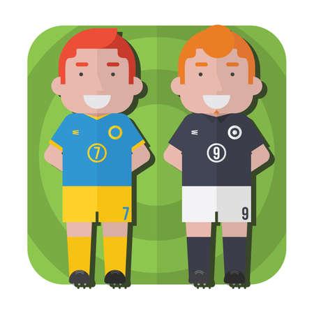 soccer: soccer players Illustration