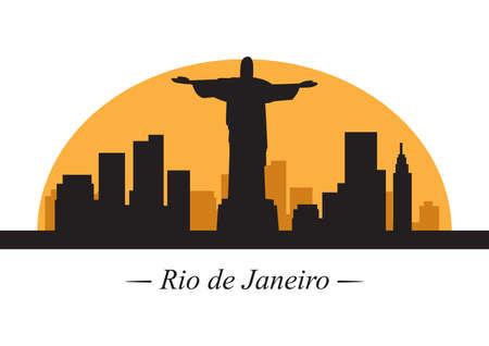 janeiro: silhouette of rio de janeiro Illustration