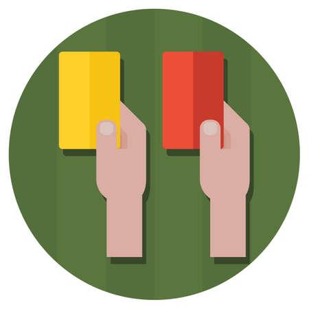 arbitros: cartas de castigo amarillos y rojos
