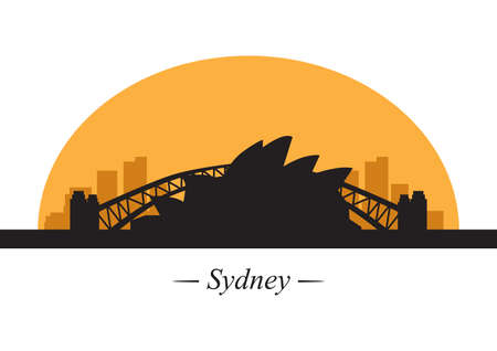port jackson: silhouette of sydney