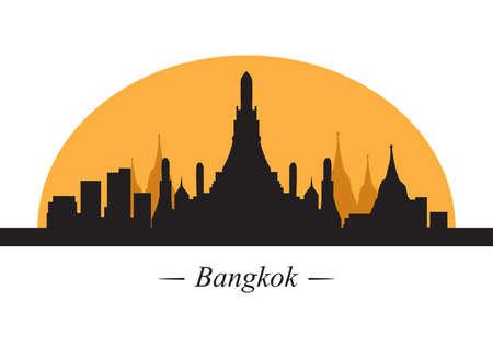 silhouette of bangkok