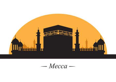 silhouette of mecca