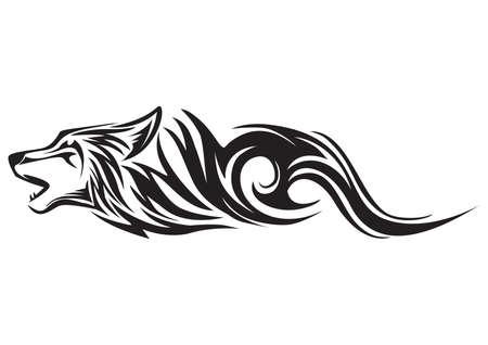 Loup tatouage Banque d'images - 53073922
