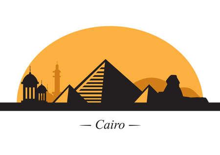 silhouette de cairo