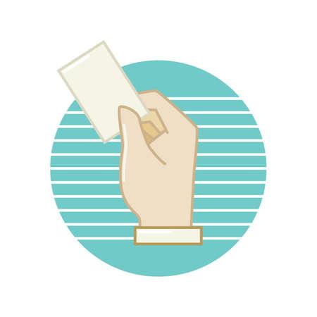businessman hand holding business card
